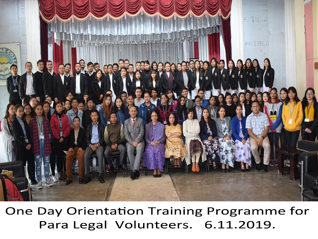 One Day Orientation Programme on Para Legal Volunteers 6.11.2019