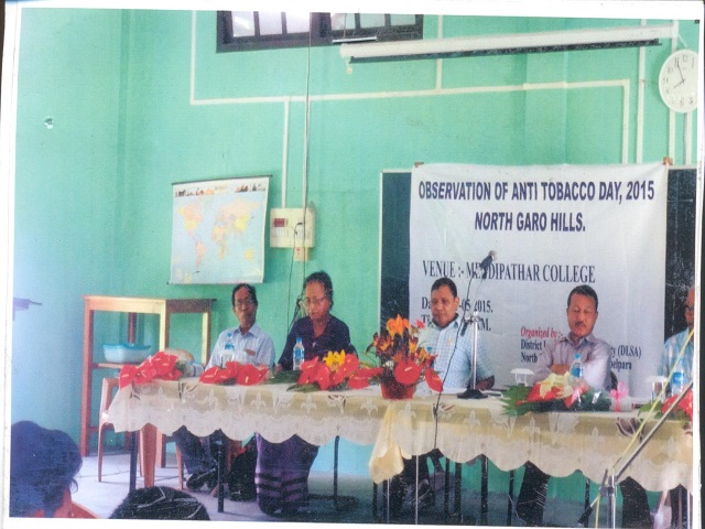 Anti Tobacco Day Held At Mendipathar College1
