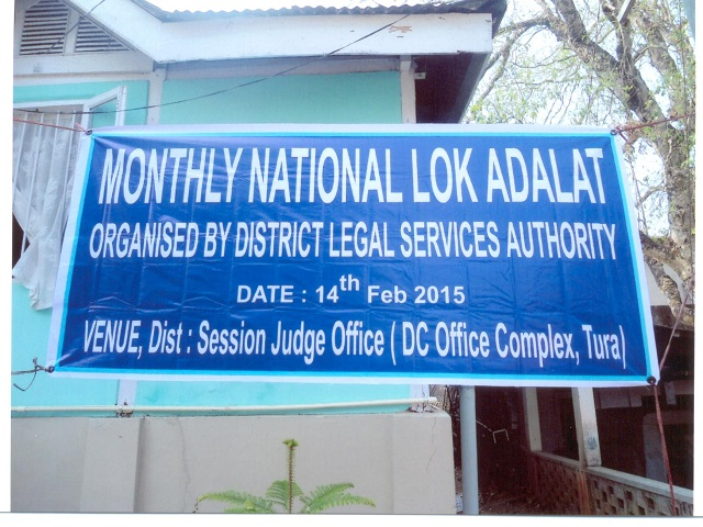 Monthly National Lok Adalat held  at Sessions Judge DC Office Complex, Tura1