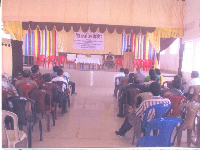 National Lok Adalat held at Mawkyrwat on the 12.09.2015