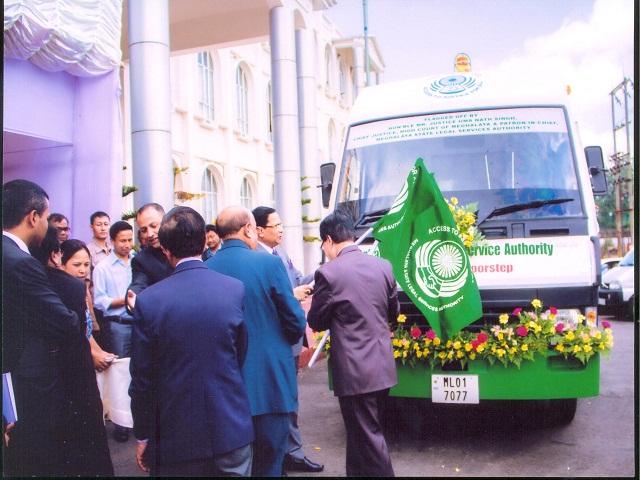 Flagged off Mobile Lok Adalat Van,Meghalaya