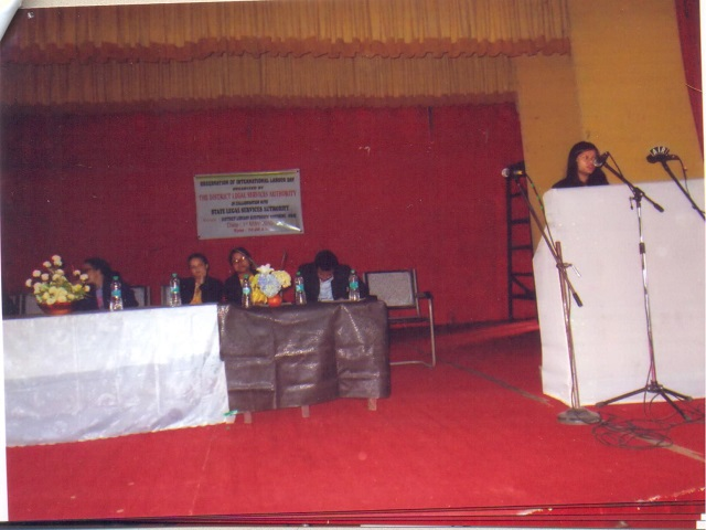 Observation of the International Labour Day on 1.5.2015 at District Library Auditorium Jowai-1