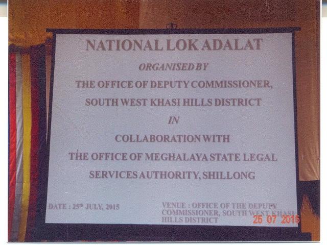 National Lok Adalat at D.C. office