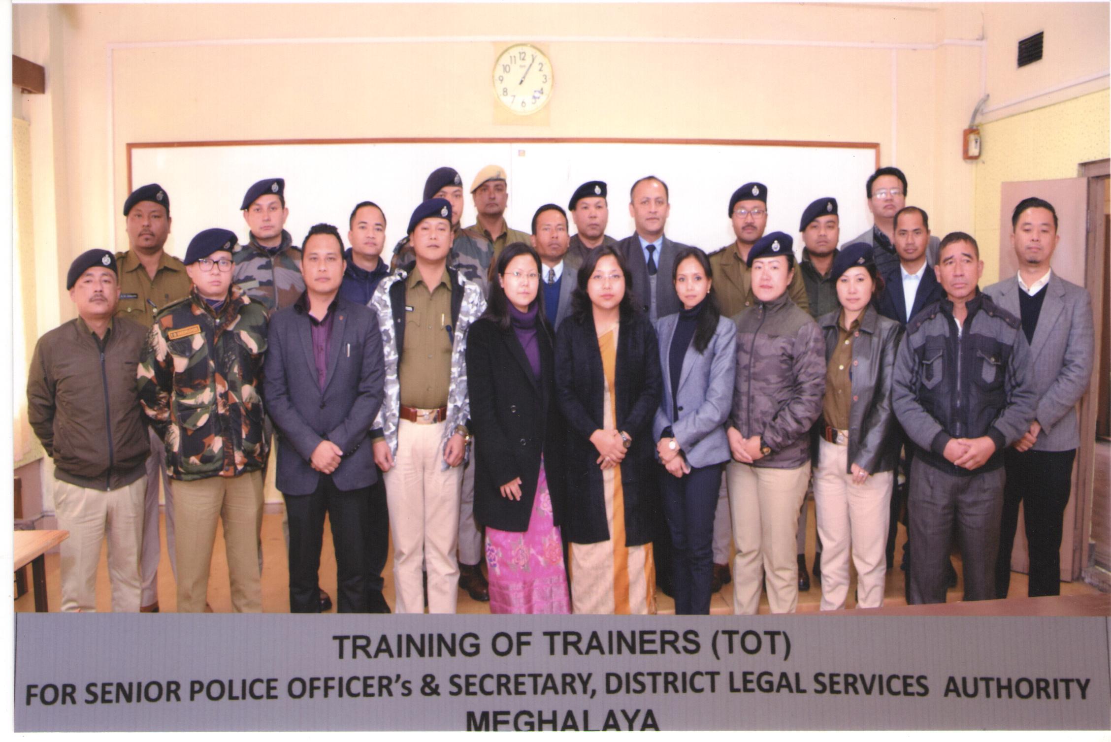 TRAINING OF TRAINERS (TOT) FOR SENIOR POLICE OFFICER'S & SECRETARY, DLSA