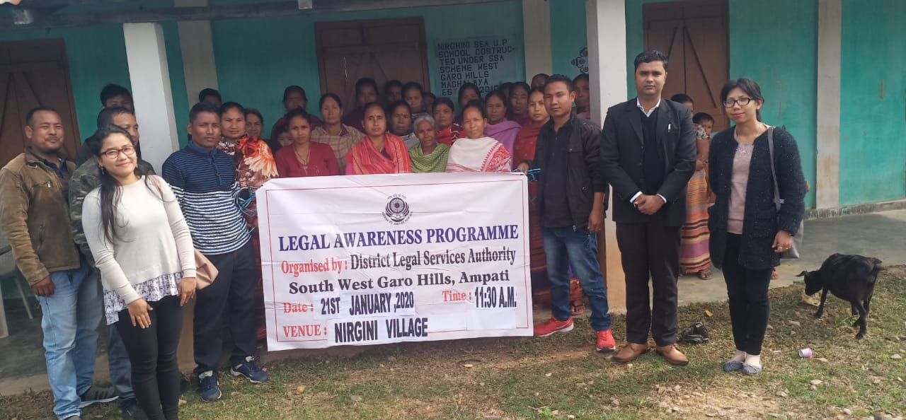 Legal Awareness programme organised by DLSA Ampati at  Nirgini on the 21-1-20