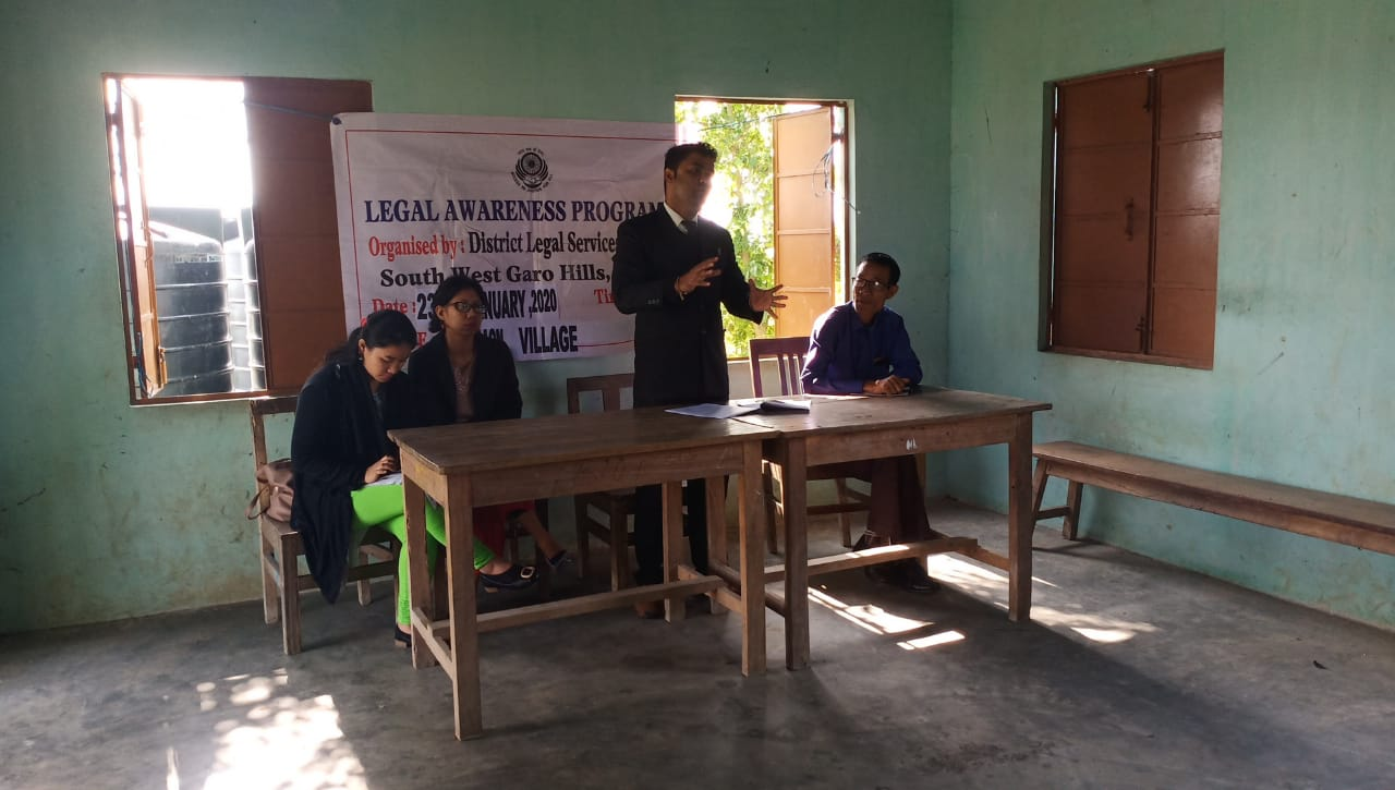 Legal Awareness Programme organised by the DLSA at Karugaon January 23.5.2020