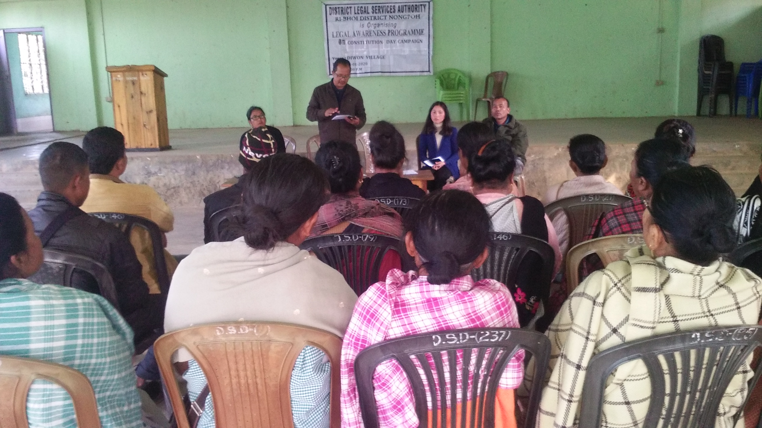 Constitutional campaign at Umling Village on the 18.1.2020