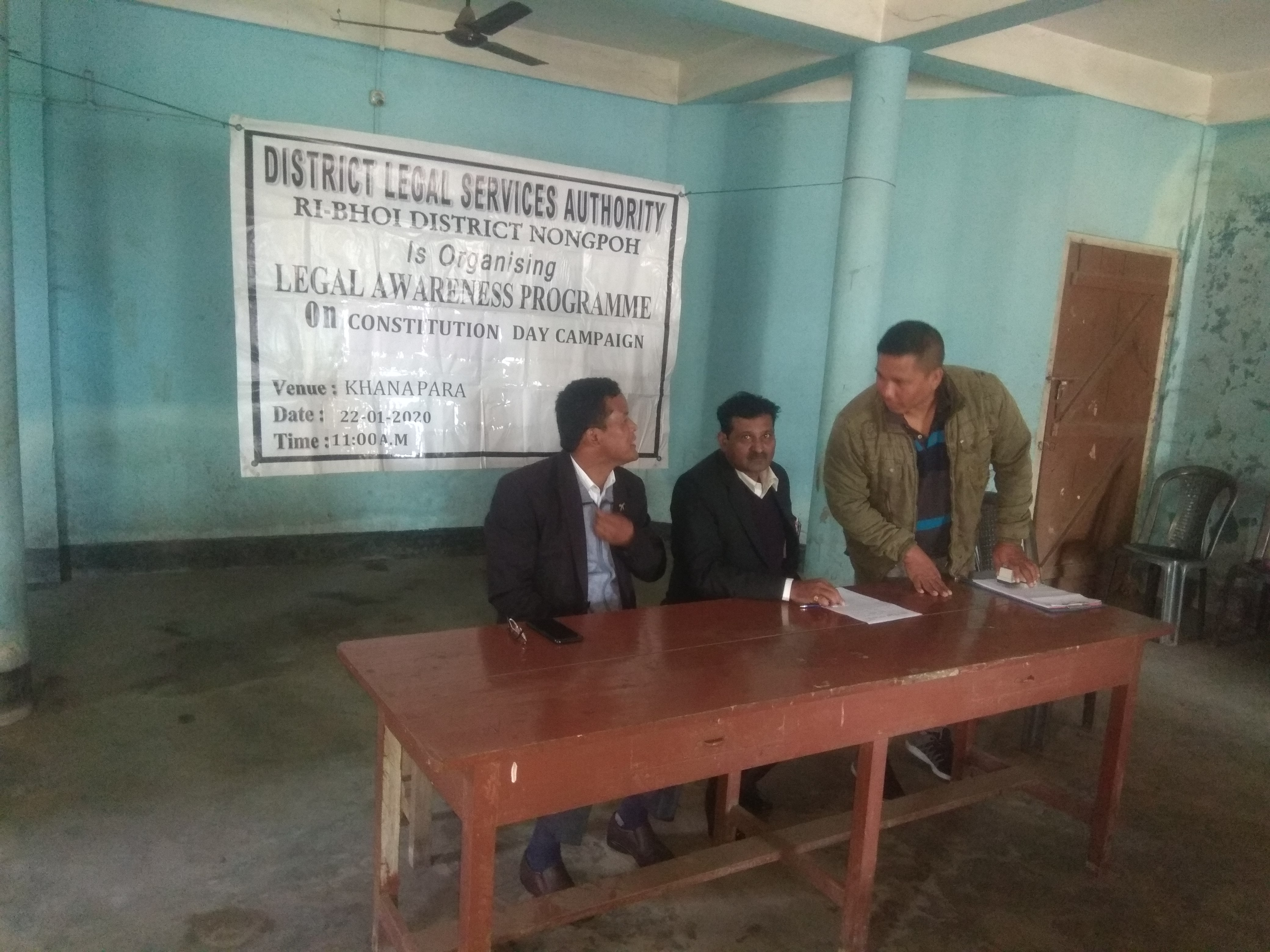 Constitutional campaign at Umling Village on the 22.1.2020