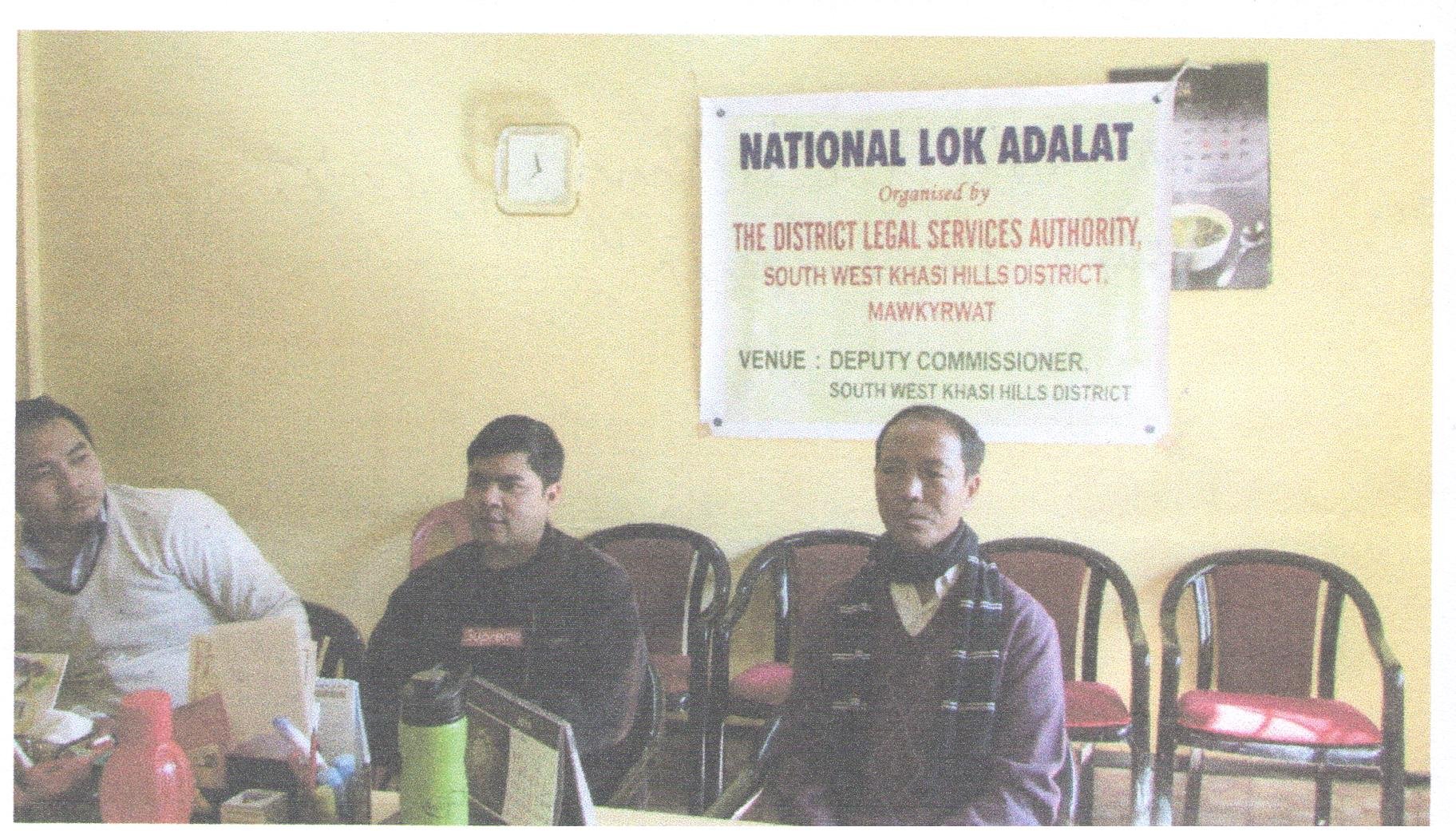 National Lok Adalat held at Deputy Commissioner Office Mawkyrwat on the 8-12-2018