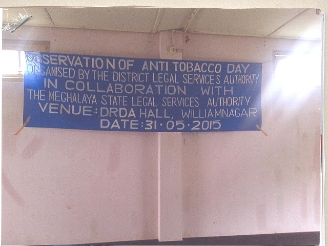 World Anti Tobacco Day held at DRDA, Tura