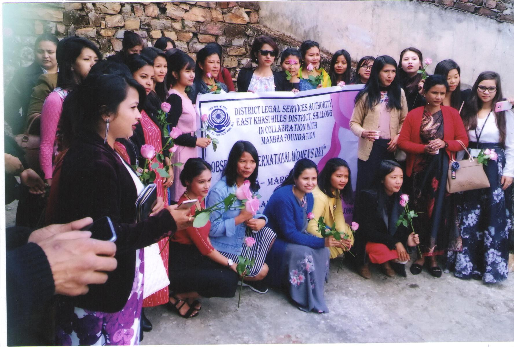 "Observation of ""INTERNATIONAL WOMEN'S DAY"" held at Manbha Foundation Upper Nongrim Hills, Shillong on the 8-03-2019"