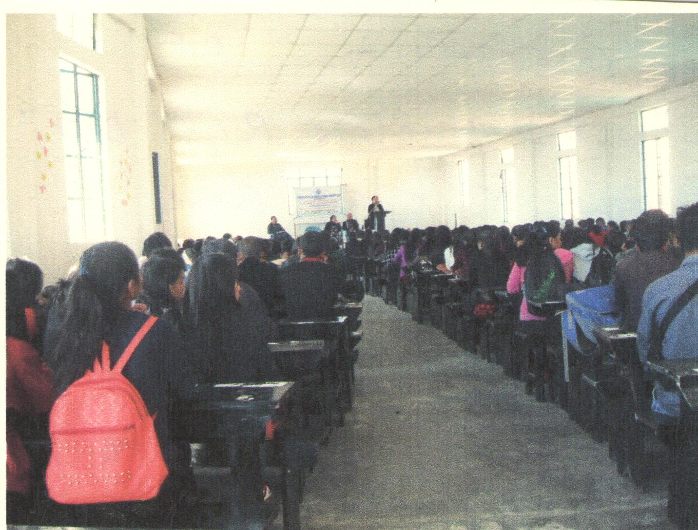 """OBSERVATION OF """"WORLD HUMAN RIGHTS DAY"""" HELD AT TIROT SING MEMORIAL COLLEGE MAIRANG, WEST KHASI HILLS DISTRICT ON THE 10.12.2018"""